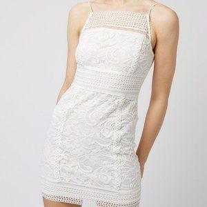 Topshop Lace Body con Dress